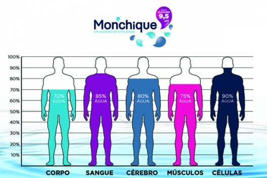 Percentagem de água no organismo
