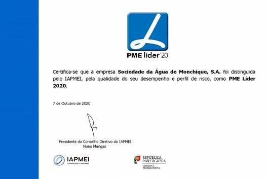 Sociedade da Água de Monchique PME Líder 2020
