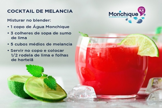 Cocktail alcalino com Água Monchique