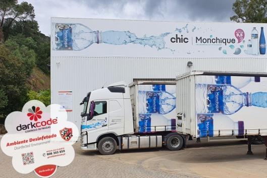 Desinfeção da fábrica da Água Monchique