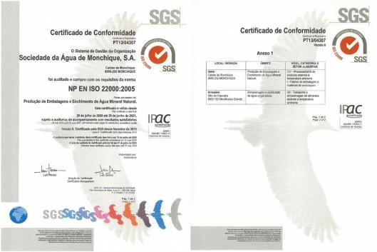 Água Monchique renova certificações