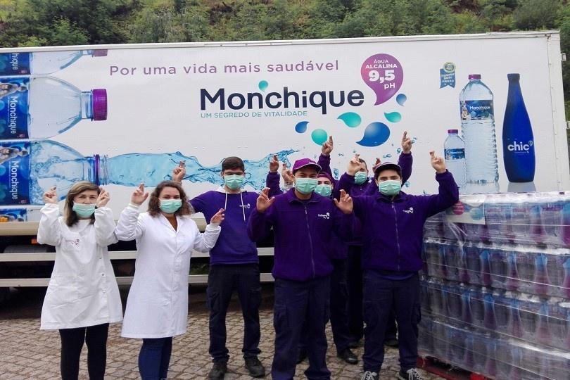 Apoio hospitais Água Monchique covid-19